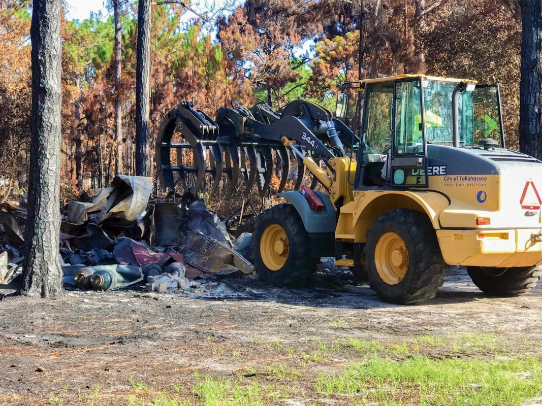Residents suffered a devastating loss due to a Fire in Eastpoint FL