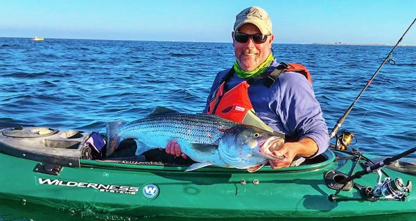 kayaking for striped bass