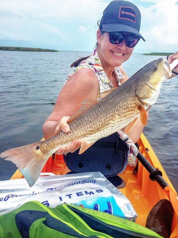 Kayak fishing in Frankin County, FL