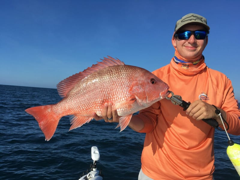 Captain Justin Ross caught this Red Snapper