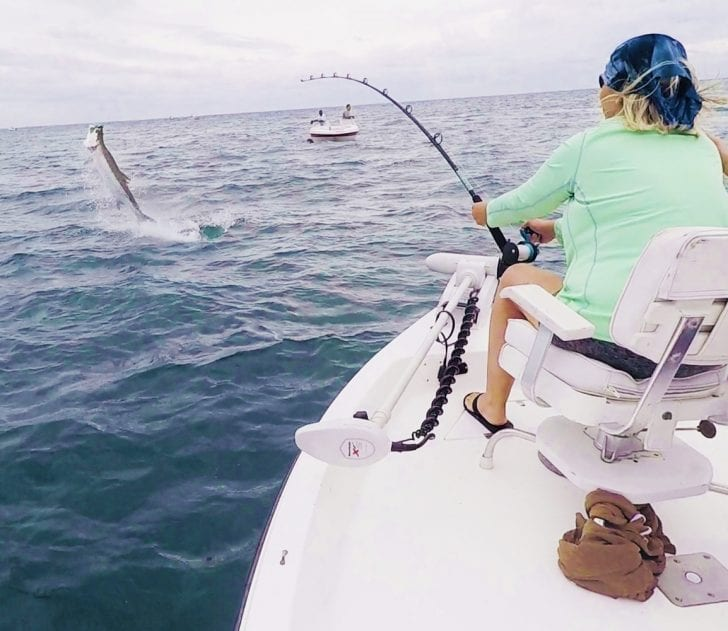 Angler Carla Mathias caught on a recent charter with me.