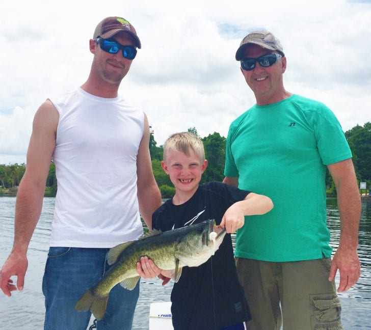Another Central Florida father & sons bass fishing trip done right