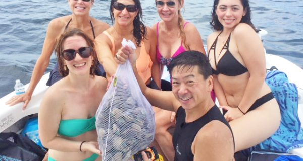 Another happy scalloping crew, guided by Capt rick burns of reel burns charters out of Homosassa Florida.