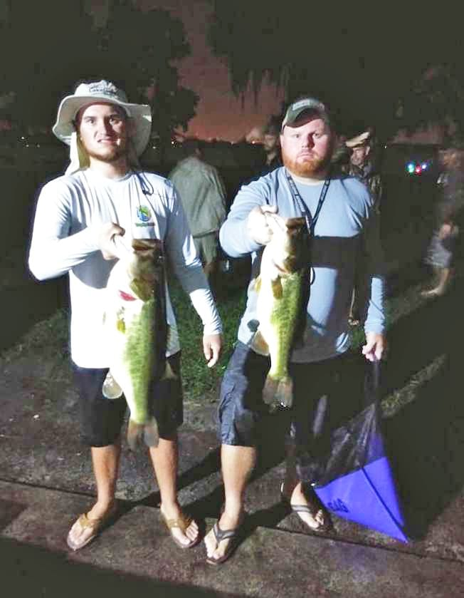 Phillip Glenn is displaying his BIG BASS win of 10 lb / 4.75 oz. Phillip and buddy, Daniel Steverson, also took 1st Place with a total of 17 lb / 8.75 oz.