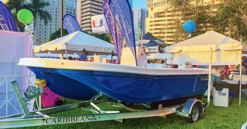 Reef Runner Raffles Boat For Cancer at Miami International Boat Show