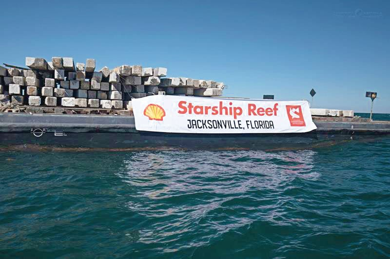 Jacksonville Shell Starship Reef Completes Journey