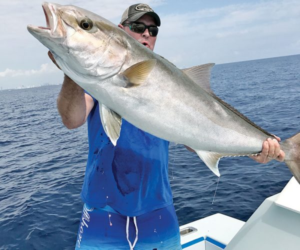 Nice amberjack caught with Nomad Fishing Charters.