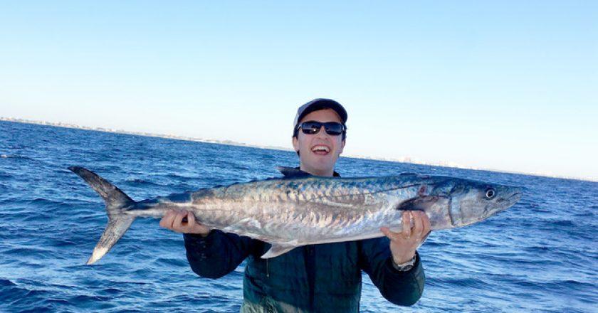 JP Burleigh with his smoker kingfish