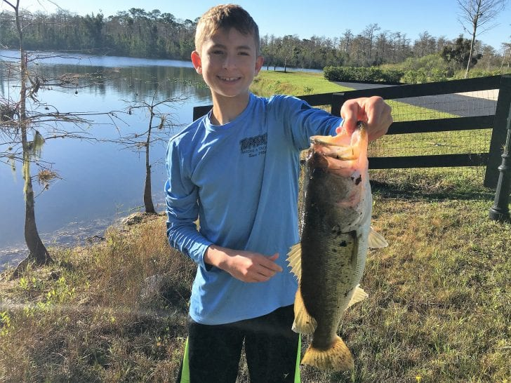 Large Mouth Bass caught in Western Lake Worth Canal