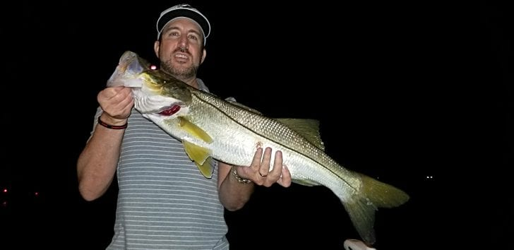 Larry Wood with a nice upper slot snook