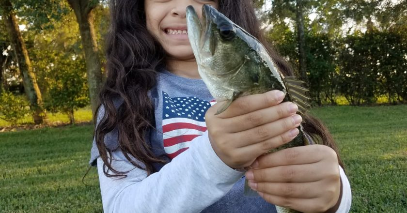Nadia Lassila caught several bass this afternoon in West Lake Worth