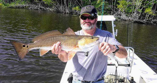 Snowbird Bill with his North Fork redfish