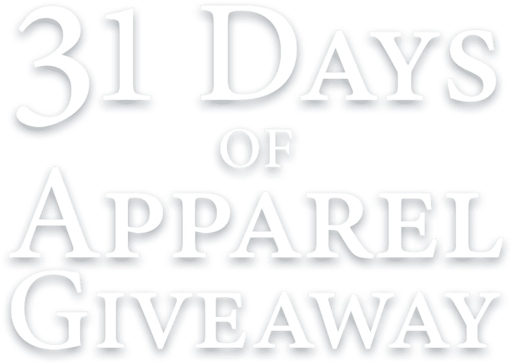 31 Days of Apparel Giveaway