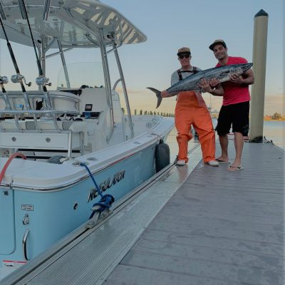Mike Milewski and Ramzi Farris with a nice king caught off Juno Beach