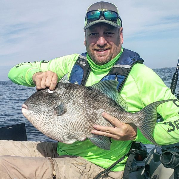 Barrett Fine with a 10.3 lb. triggerfish caught off Navarre, FL.
