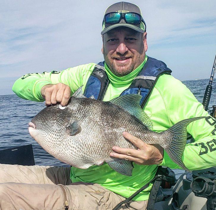 Barrett Fine with a 10.3 lb. triggerfish caught off Navarre, FL.