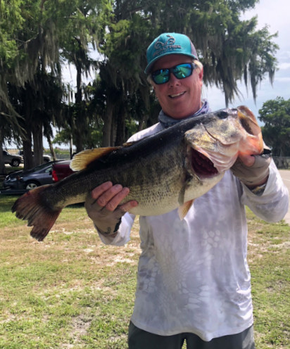 Chip Dover With A 10 Lb Plus Bass From Lk Okeechobee While Fishing Anglers Team Trail Annual Classic Coastal Angler The Angler Magazine