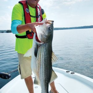 40+ lb'er caught by Capt David Hare while scouting on Lake Martin.