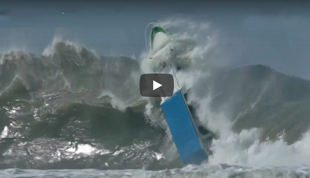 Boats Caught Inside Massive Waves Coastal Angler Amp The